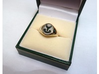 18ct seal engraved on bloodstone signet ring