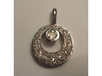 9ct white gold pendant using diamonds from customers old rings