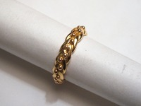 Plaited style wedding ring