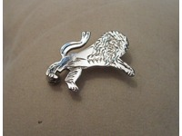 Sterling silver gents lapel pin