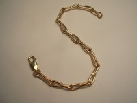 9ct link bracelet made from customers old gold