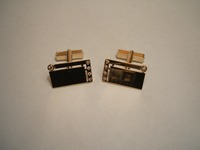 9ct diamond set Cufflinks made from customers old rings