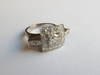 Platinum diamond set dress ring