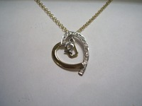 9ct yellow and white gold 'me to you' pendant set with diamonds