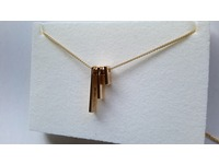Gold pendant made from an existing wedding ring - keeping original hallmarks