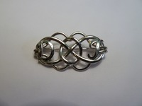 Sterling silver celtic initial brooch