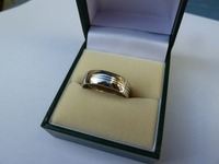 Gents palladium wedding ring