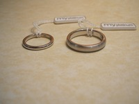 His 'n' Hers matching Platinum wedding rings